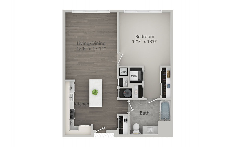 1 Bedroom - Type 1